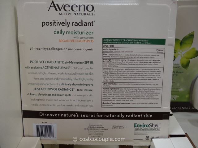Aveeno Positively Radiant Daily Moisturizer Costco 2