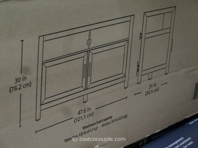 Bayside Furnishings Onin TV Stand Costco 4