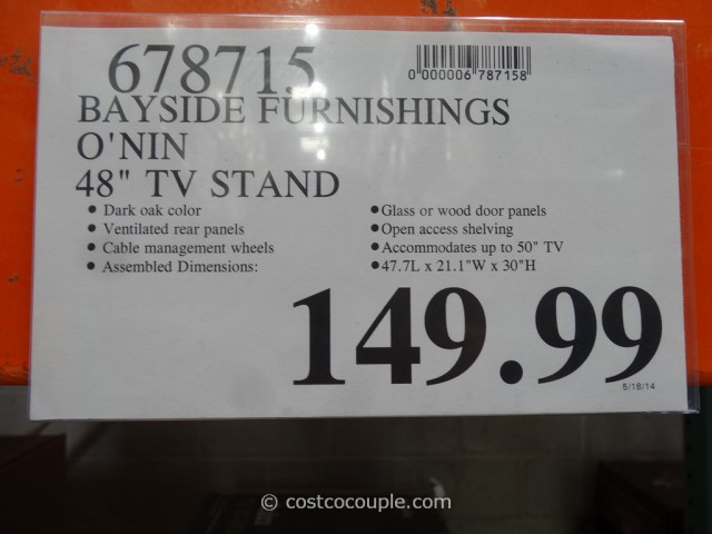 Bayside Furnishings Onin TV Stand Costco 5