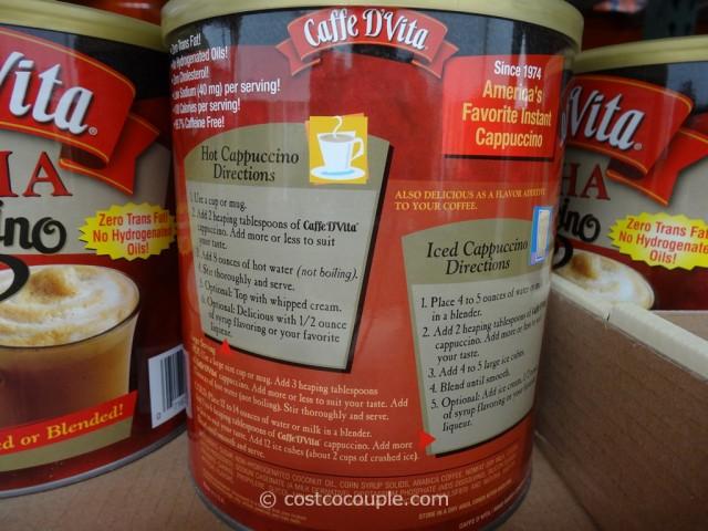 Caffe D'Vita Instant Cappuccino Costco 3