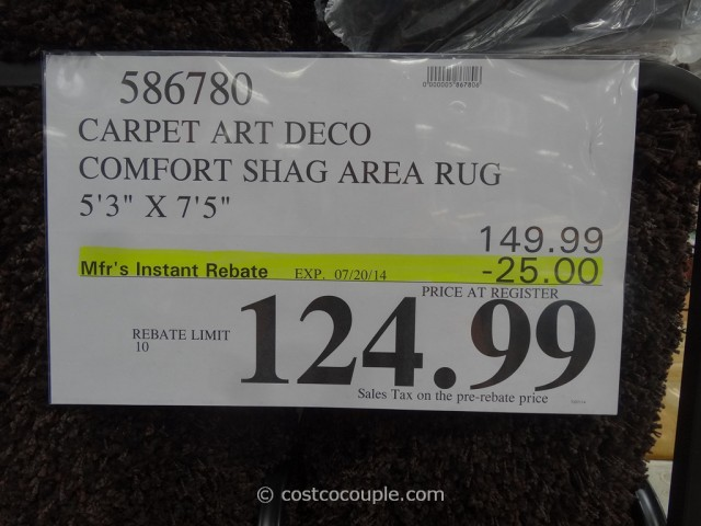 Carpet Art Deco 5x8 Shag Area Rug Costco