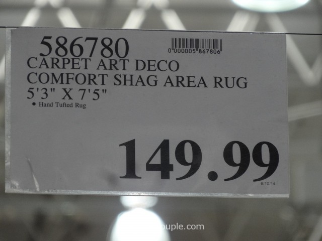 Carpet Art Deco Comfort Shag Rug 5x8 Costco 4