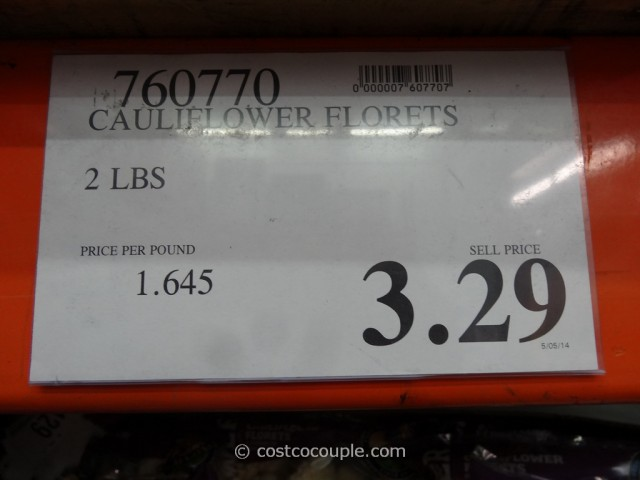 Cauliflower Florets Costco 2