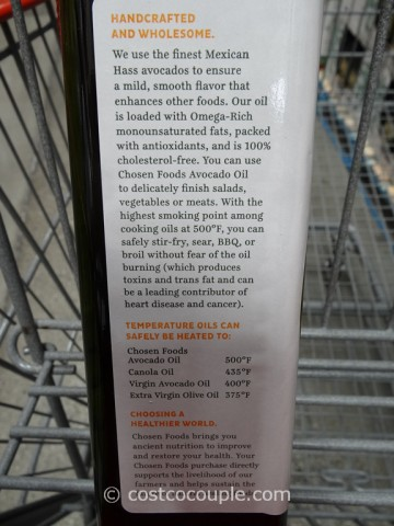 Chosen Foods Pure Avocado Oil Costco 2