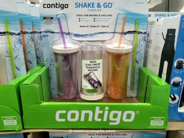 Contigo Shake and Go Tumblers with Straws Costco 1