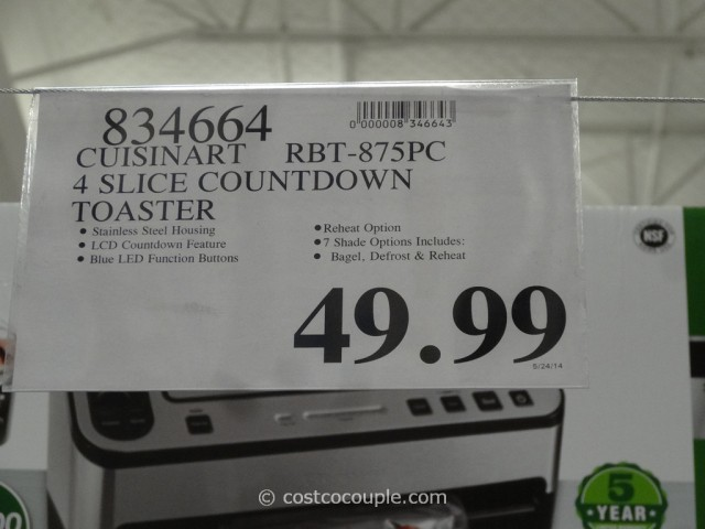 Cuisinart Countdown 4-Slice Toaster Costco 4