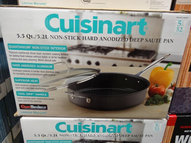 Cuisinart Non-Stick Hard Anodized Deep Saute Pan Costco 1