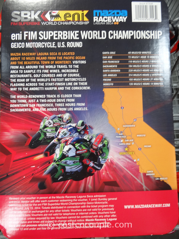 Gift Card  eni FIM Superbike World Championship  Costco 1