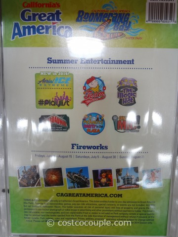 Great America 2014 General Admission Ticket Costco 1