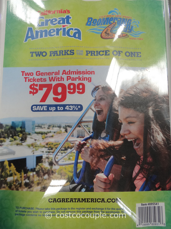Great America 2014 General Admission Tickets Costco 1