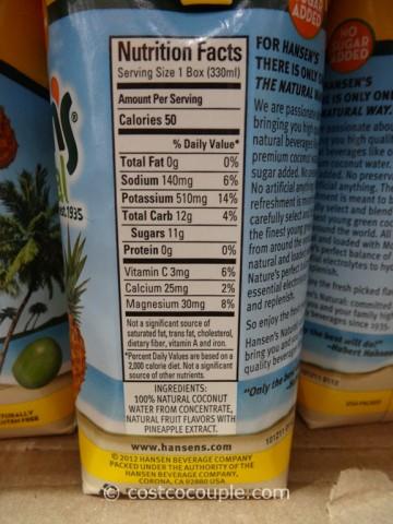 Hansens Natural Tropical Coconut Water Costco 4