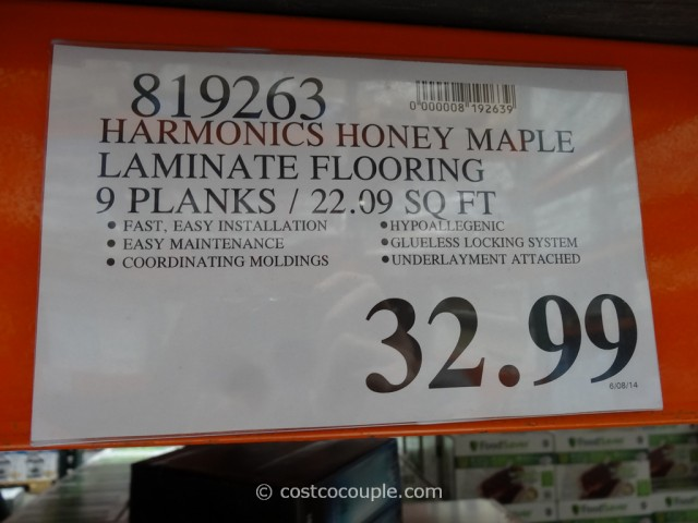 Harmonics Honey Maple Laminate Flooring