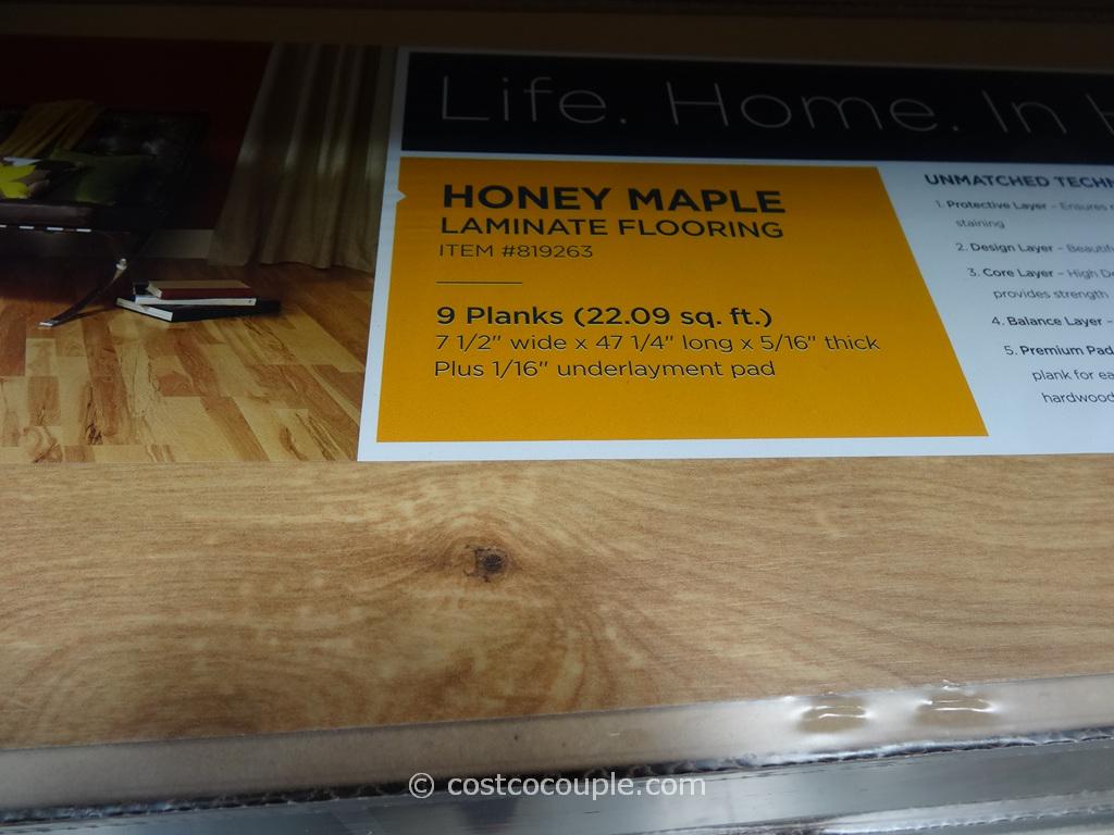 Nice Harmonics Honey Maple Laminate Flooring Costco 2 ...