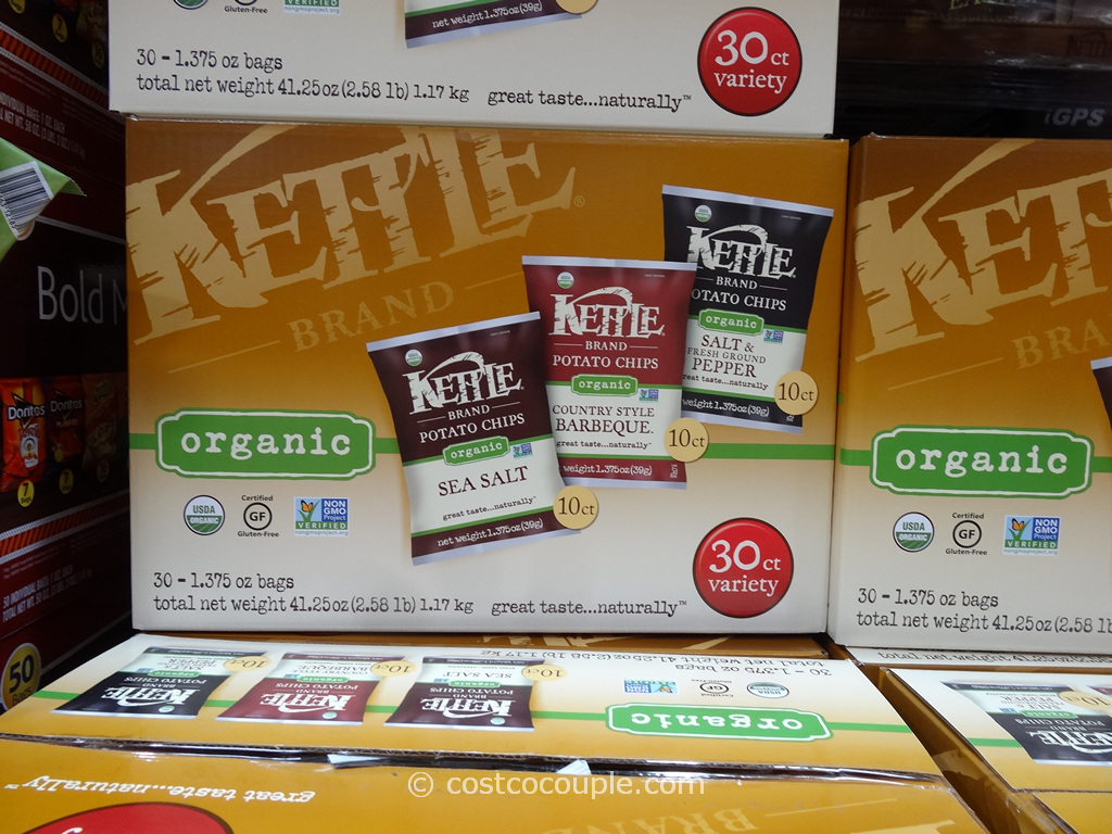 Kettle Brand Organic Potato Chips Variety Pack Costco 4