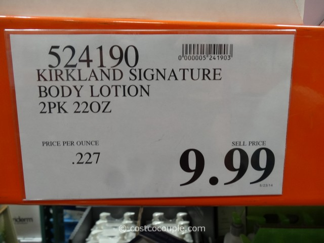 Kirkland Signature Body Lotion Costco 2