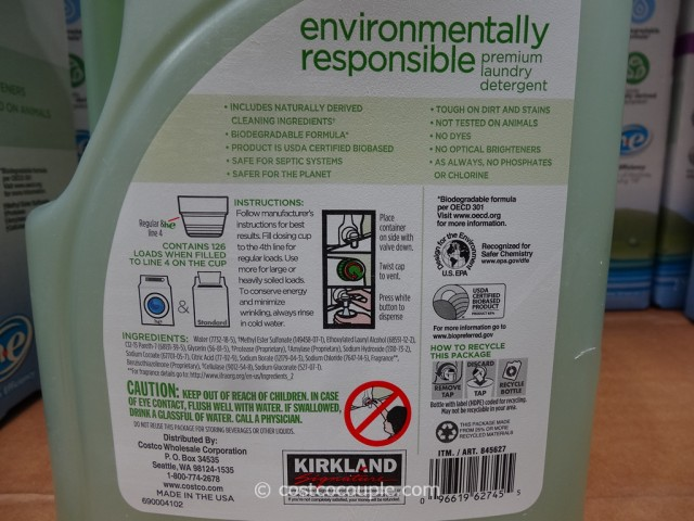 Kirkland Signature Eco Friendly Laundry Detergent