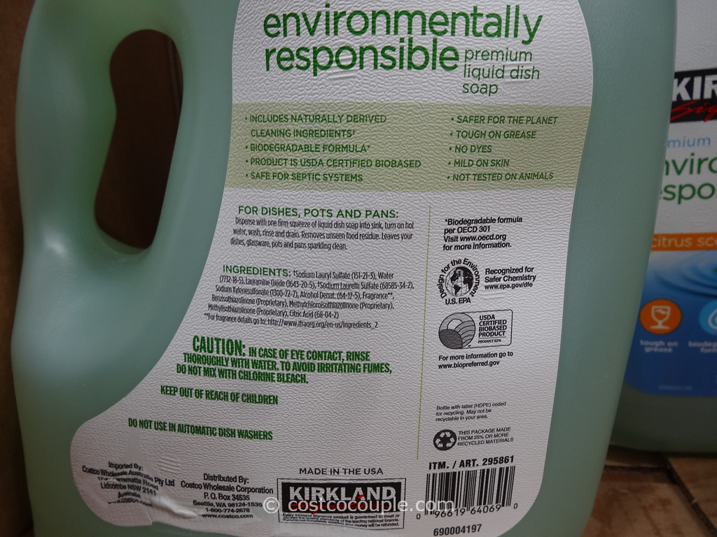 Kirkland Signature Eco Friendly Liquid Dish Soap