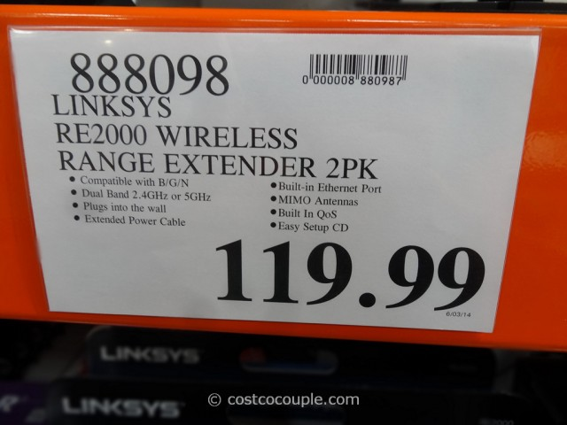 Linksys Wifi Range Extender Costco 1
