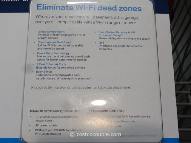Linksys Wifi Range Extender Costco 3