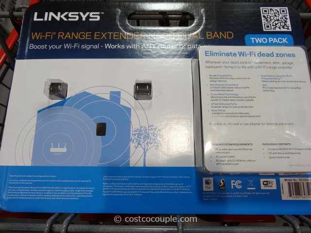 Linksys Wifi Range Extender Costco 4