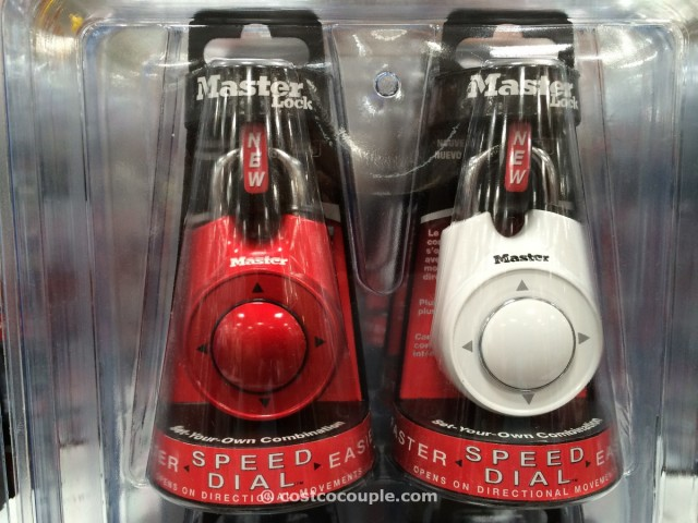 Masterlock Speed Dial Combo Pack Costco 4