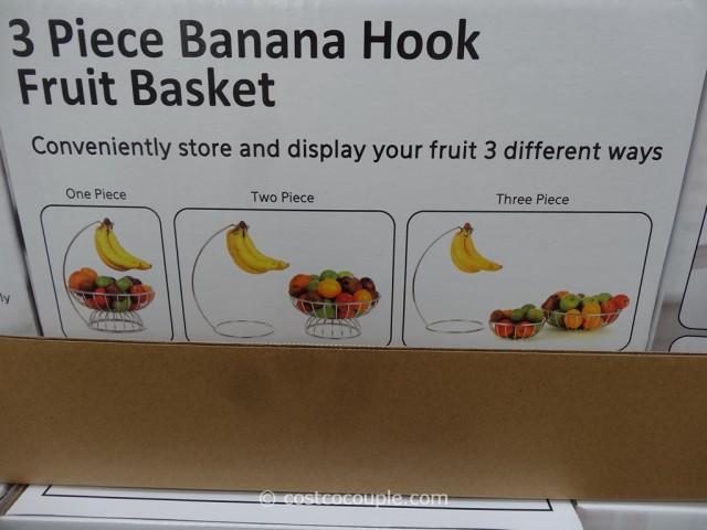 Mesa 3-Piece Banana Hook Fruit Basket Costco 2