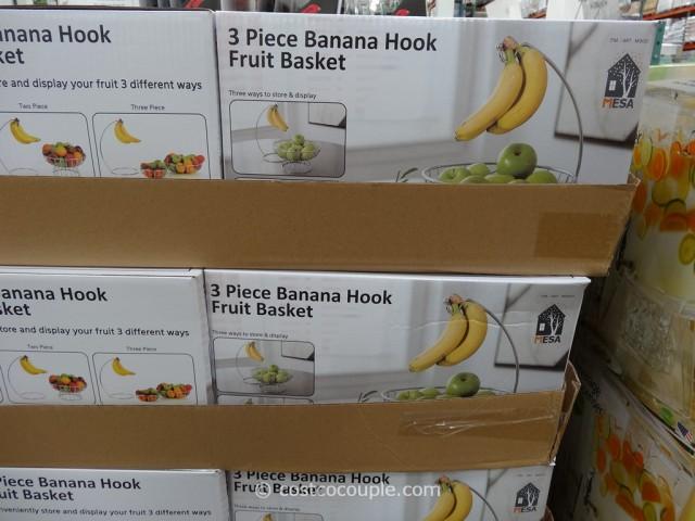 Mesa 3-Piece Banana Hook Fruit Basket Costco 4