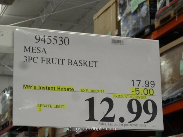 Mesa 3-Piece Banana Hook Fruit Basket Costco