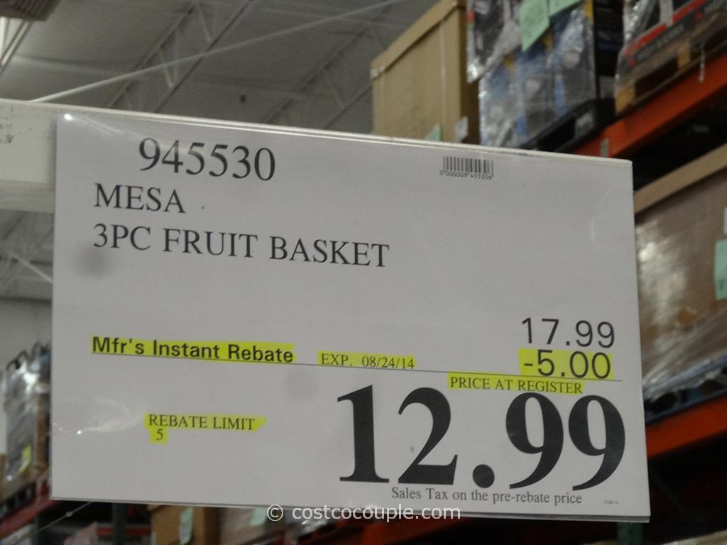Mesa 3-Piece Banana Hook Fruit Basket