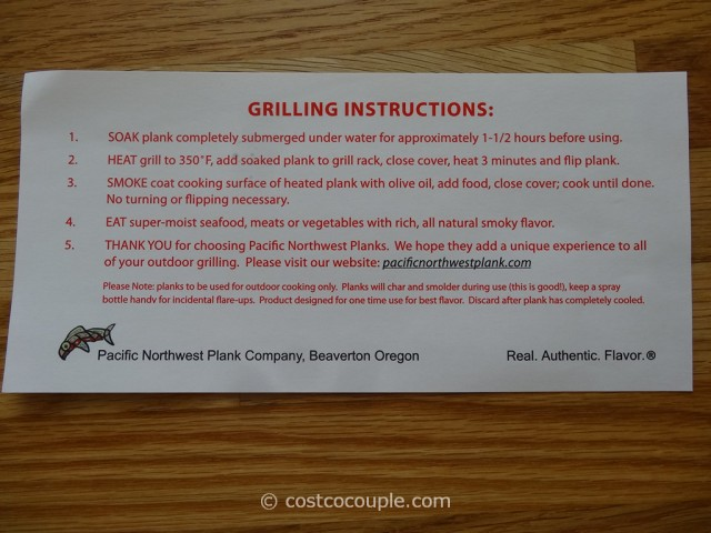 Pacific Northwest Plank Company Cedar Grilling Planks Costco 2