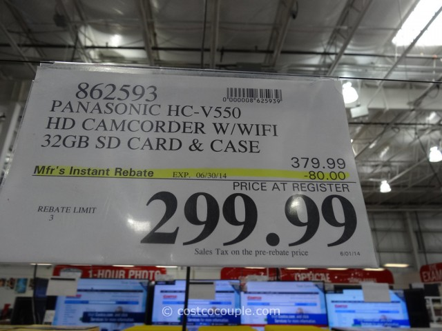 Panasonic HCV550 HD Camcorder Costco 1