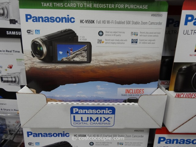 Panasonic HCV550 HD Camcorder Costco 2