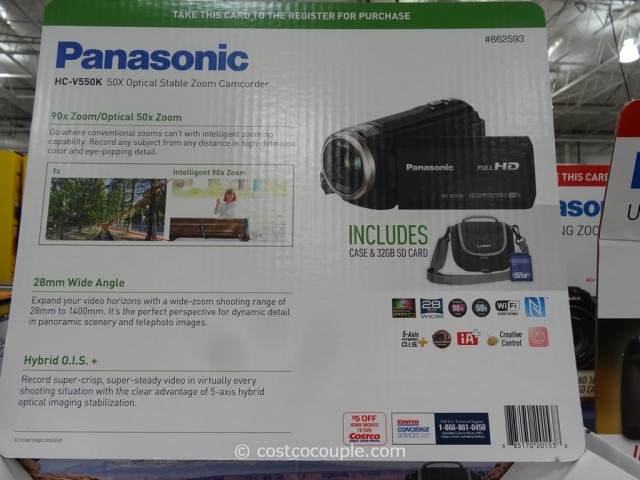 Panasonic HCV550 HD Camcorder Costco 3