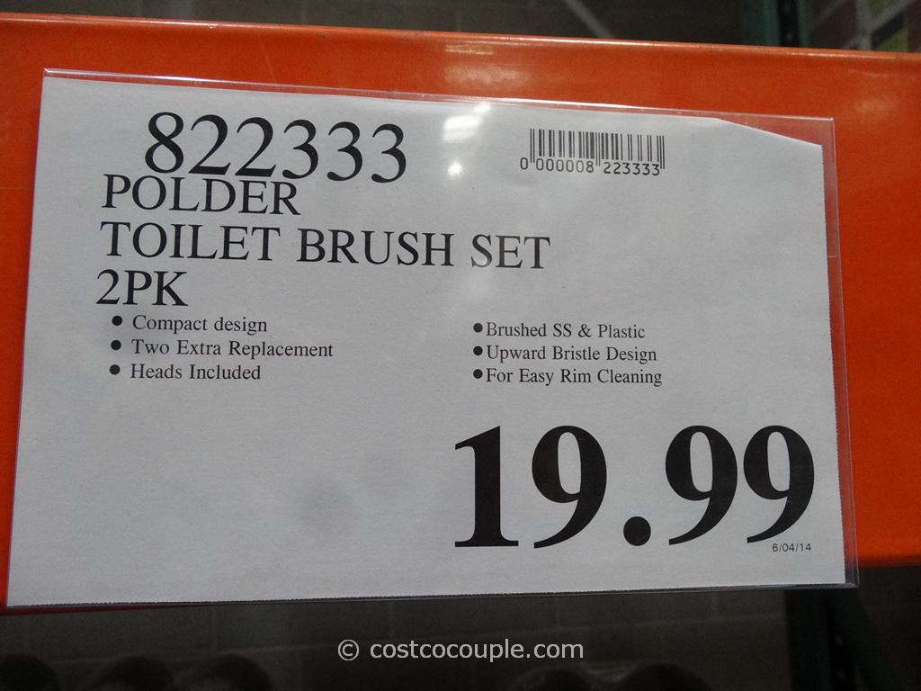 Polder Toilet Brush Set