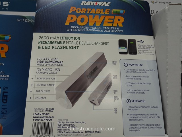 Rayovac Portable Power Pack Costco 3