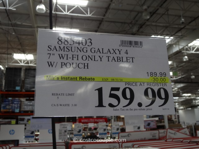 Samsung Galaxy 4 7-Inch Tablet Costco