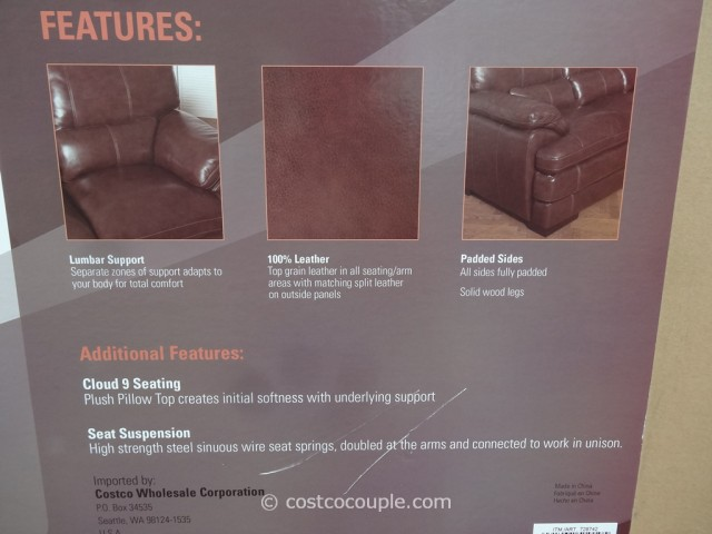 Simon Li Bella Leather Loveseat Costco 2