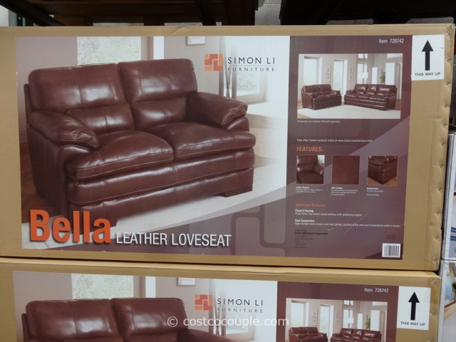 Simon Li Bella Leather Loveseat Costco 3