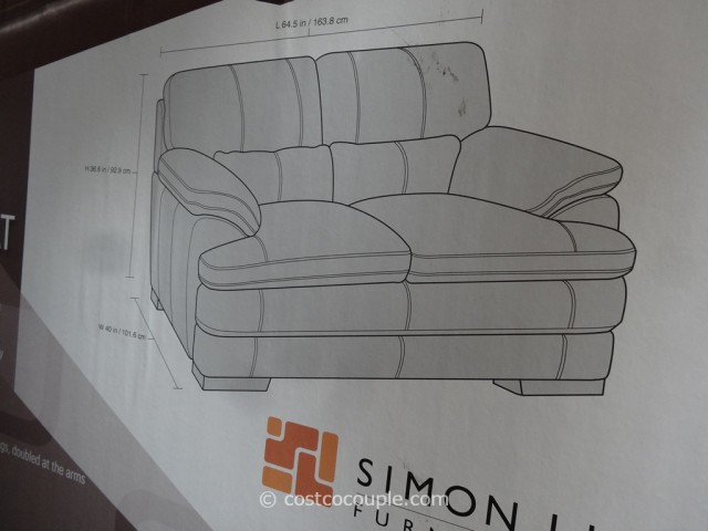 Simon Li Bella Leather Loveseat Costco 5