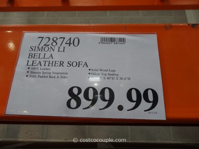 Simon Li Bella Leather Sofa Costco 4   Costco Leather Sofa