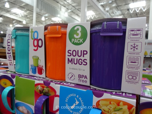 Sistema Soup Mugs Costco 3
