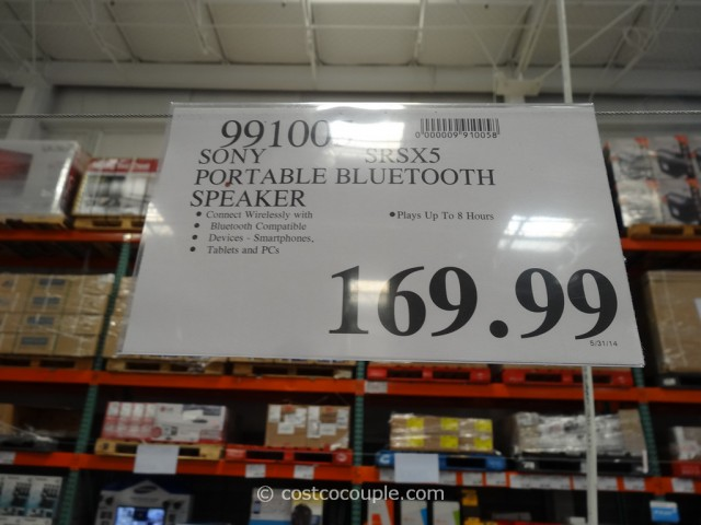 Sony X5 Portable Bluetooth Speaker Costco 4