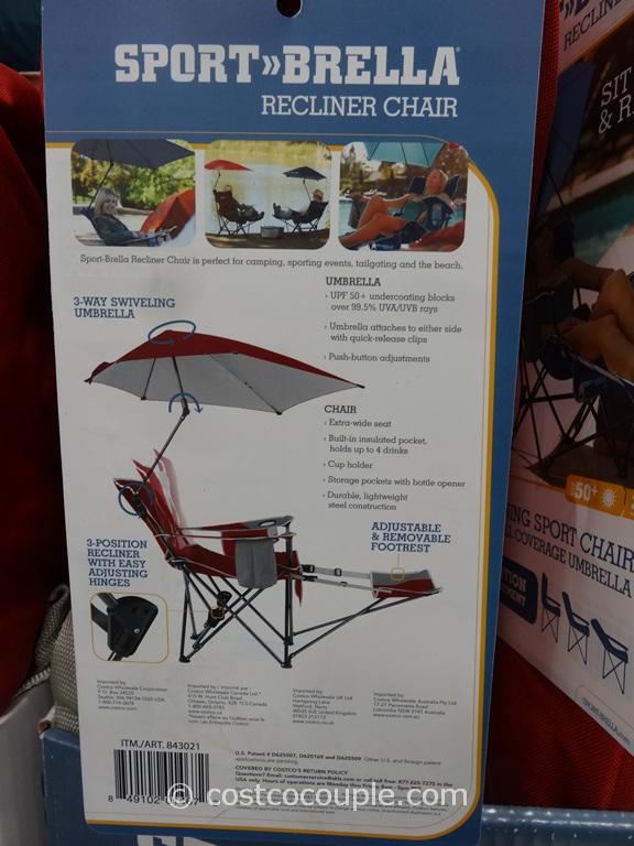 Sportbrella Reclining Chair With Umbrella