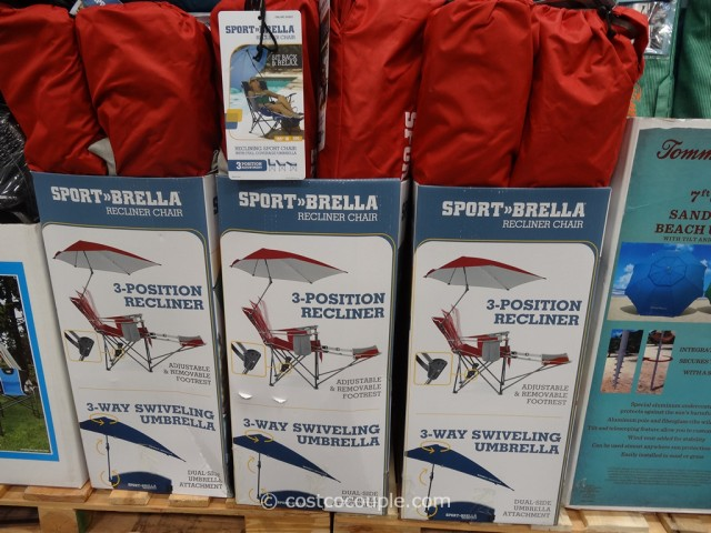 SportBrella Reclining Chair With Umbrella Costco 4 ... & SportBrella Reclining Chair With Umbrella islam-shia.org