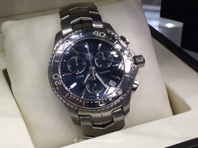 TAG Heuer Link Mens Blue Chronograph Costco 2