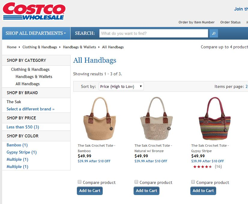The Sak Crochet Tote Costco 1