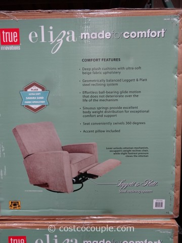 True Innovations Eliza Swivel Glider Recliner