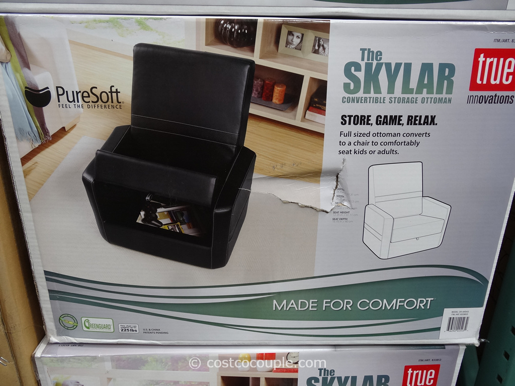 True Innovations Skylar Gaming Chair Ottoman Costco 3