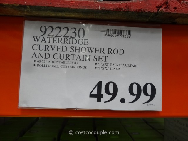 Water Ridge Curved Shower Rod Set Costco 1