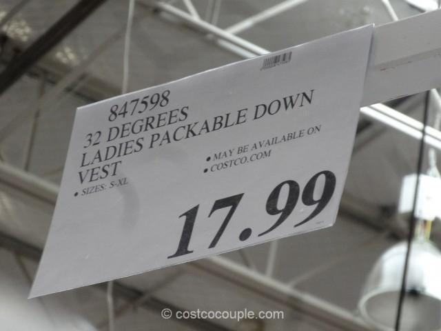 32 Degrees Ladies Packable Down Vest Costco 1
